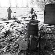 NLD/s'Graveland/19910609 - Gif opruimen na een brand in s'Graveland