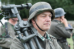 Hull Veterans Weekend John conscripted into the Mortar Crew<br /> <br /> 25-26 July 2015<br />  Image &copy; Paul David Drabble <br />  www.pauldaviddrabble.co.uk