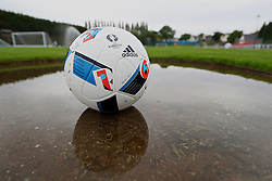 DINARD, FRANCE - Monday, June 13, 2016: The official Euro 2016 match ball during a Wales training session at their base in Dinard during the UEFA Euro 2016 Championship. (Pic by David Rawcliffe/Propaganda)