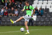 Forest Green Rovers Theo Archibald(18) warming up during the EFL Sky Bet League 2 match between Forest Green Rovers and Port Vale at the New Lawn, Forest Green, United Kingdom on 8 September 2018.