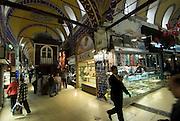 Interior of the Grand Bazaar.