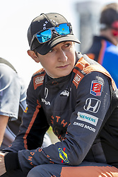 April 21, 2018 - Birmingham, Alabama, United States of America - ZACH VEACH (26) of the United Stated waits for a practice session for the Honda Indy Grand Prix of Alabama at Barber Motorsports Park in Birmingham Alabama. (Credit Image: © Walter G Arce Sr Asp Inc/ASP via ZUMA Wire)