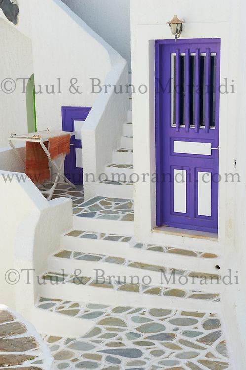 Grece, les Cyclades, Iles Egéennes,  ile de Ios, Hora, // Greece, Cyclades, Ios island, the old town Hora