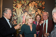 ANDREW KNIGHT; RACHEL JOHNSON; ORIANA TICKELL; CRISPIN TICKELL, Exhibition opening of paintings by Charlotte Johnson Wahl. Mall Galleries. London, 7 September 2015.