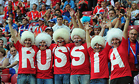 Fotball<br /> 16.06.2012<br /> EM 2012<br /> Russland v Hellas<br /> Foto: Witters/Digitalsport<br /> NORWAY ONLY<br /> <br /> Fans Russland<br /> Fussball EURO 2012, Vorrunde, Gruppe A, Griechenland - Russland