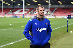 Victor Delmas of Bath Rugby looks around prior to the match - Mandatory byline: Patrick Khachfe/JMP - 07966 386802 - 30/03/2018 - RUGBY UNION - Kingsholm Stadium - Gloucester, England - Bath Rugby v Exeter Chiefs - Anglo-Welsh Cup Final