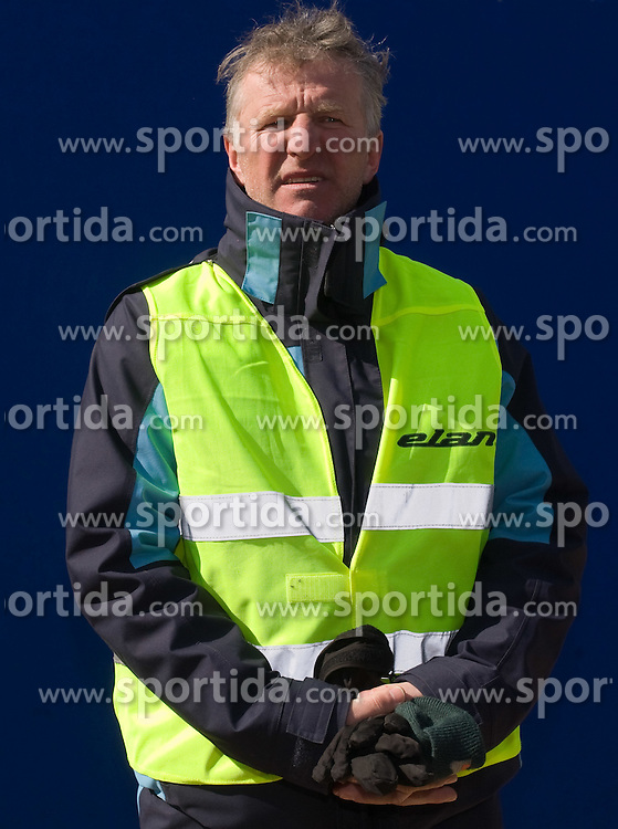 Security man at Flying Hill Team in 3rd day of 32nd World Cup Competition of FIS World Cup Ski Jumping Final in Planica, Slovenia, on March 21, 2009. (Photo by Vid Ponikvar / Sportida)