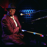 Pinetop Perkins the 90 year old Blues musician from Mississippi, America, playing live at the Union Chapel, Highbury, London.