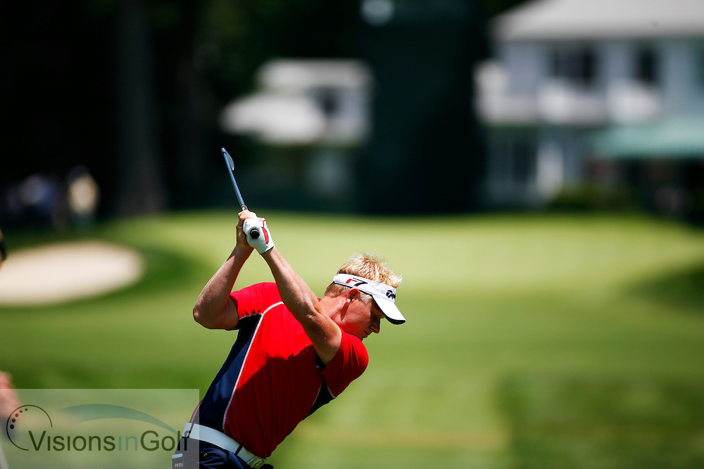Peter Hedblom on the 3rd tee in the first round<br /> 060615 / Winged Foot GC, NY,  USA /  USGA Open Championship 2006<br /> Picture Credit: Mark Newcombe / visionsingolf.com