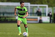 Forest Green Rovers Liam Shephard(2) runs forward during the EFL Sky Bet League 2 second leg Play Off match between Forest Green Rovers and Tranmere Rovers at the New Lawn, Forest Green, United Kingdom on 13 May 2019.