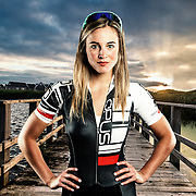 Portrait of Andréanne Pichette member of Canada's National Mountain Bike Team and member of Opus OGC.