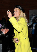 06.FEBRUARY.2013. LONDON<br /> <br /> RITA ORA AND SUPPORT ACT IGGY AZALEA LEAVE THE SHEPHERDS BUSH EMPIRE IN LONDON, UK.<br /> <br /> BYLINE: EDBIMAGEARCHIVE.CO.UK<br /> <br /> *THIS IMAGE IS STRICTLY FOR UK NEWSPAPERS AND MAGAZINES ONLY*<br /> *FOR WORLD WIDE SALES AND WEB USE PLEASE CONTACT EDBIMAGEARCHIVE - 0208 954 5968*