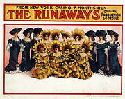 Title: The runaways from New York Casino c1908.  (poster) lithograph showing a famous American Musical revue