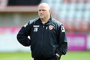 Morecambe manager Jim Bentley before the Sky Bet League 2 match between Exeter City and Morecambe at St James' Park, Exeter, England on 30 April 2016. Photo by Graham Hunt.