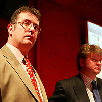 Edrington Group Malting Barley Awards 2002 Harvest<br />Edrington Group's Director of Distribution Graham Hutcheon (left) and Tim McCreath MD of Simpsons Malt.<br />see press release from Carol McLaren/Edrington Group tel: 01738 493777<br /><br />Picture by Graeme Hart.<br />Copyright Perthshire Picture Agency<br />Tel: 01738 623350  Mobile: 07990 594431