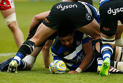 Bath's Taulupe Faletau during the Aviva Premiership match at the Recreation Ground, Bath.