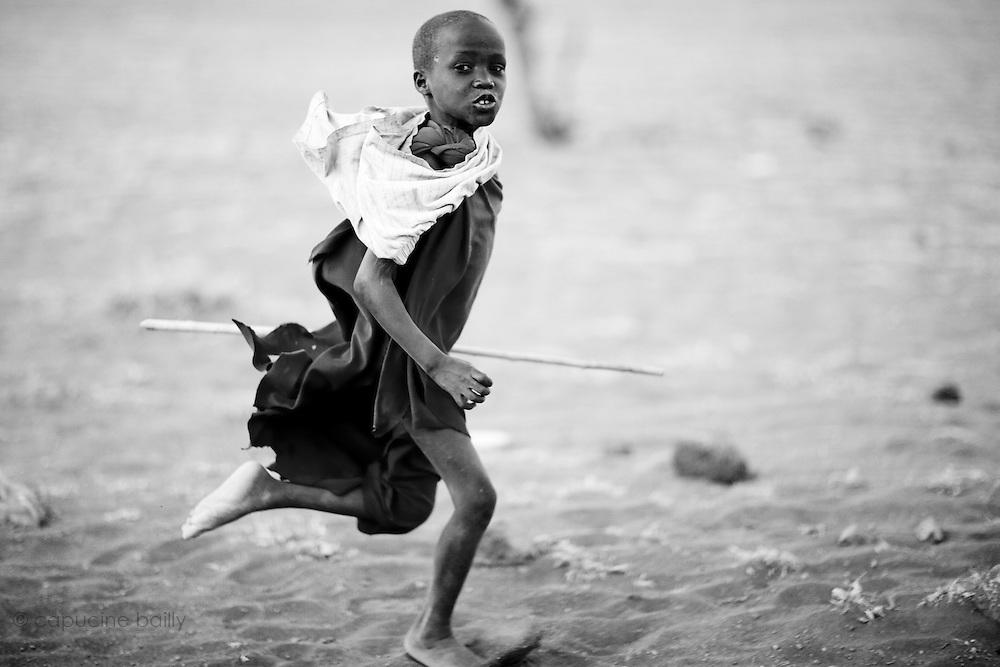Ngare Sero, TANZANIA. August 11th 2009..A Maasai kid.