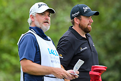 March 29, 2019 - Austin, Texas, United States - Shane Lowry (R) and his caddie Brian Martin wait on the 15th tee during the third round of the 2019 WGC-Dell Technologies Match Play at Austin Country Club. (Credit Image: © Debby Wong/ZUMA Wire)
