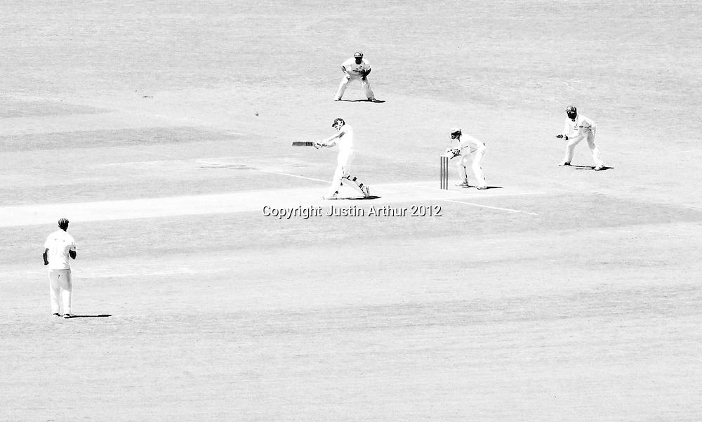 General view of play. Plunket Shield Cricket - Wellington v Northen Districts ,Karori Park, Wellington, New Zealand on Thursday 20 December 2012. Photo: Justin Arthur / photosport.co.nz