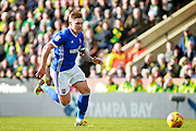 Ipswich Town striker Martyn Waghorn (9) on the attack during the EFL Sky Bet Championship match between Norwich City and Ipswich Town at Carrow Road, Norwich, England on 18 February 2018. Picture by Nigel Cole.