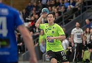 HÅNDBOLD: Aku Kreutzmann (Nordsjælland) under kampen i Herre Håndbold Ligaen mellem Nordsjælland Håndbold og Ribe-Esbjerg HH den 4. marts 2019 i Frederiksborgcenteret i Hillerød. Foto: Claus Birch.