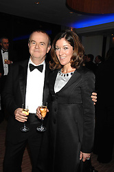 IAN HISLOP and his wife VICTORIA at the 2007 Costa Book Awards held at The Intercontinental Hotel, One Hamilton Place, London W1 on 22nd January 2008.<br />