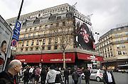 Frankrijk, Parijs, 28-3-2010De galeries Lafayette aan de boulevard Haussmann.  Exterieur.Foto: Flip Franssen/Hollandse Hoogte