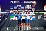 Podium Camilla Alessio (Italy) 2nd place, Rozemarijn Ammerlaan (Netherlands) winner, Elynor Backsted (Great Britain) 3rd place during the 2018 UCI Road World Championships, Women Juniors Individual Time Trial 20 km on September 24, 2018 in Innsbruck, Austria - Photo Luca Bettini / BettiniPhoto / ProSportsImages / DPPI