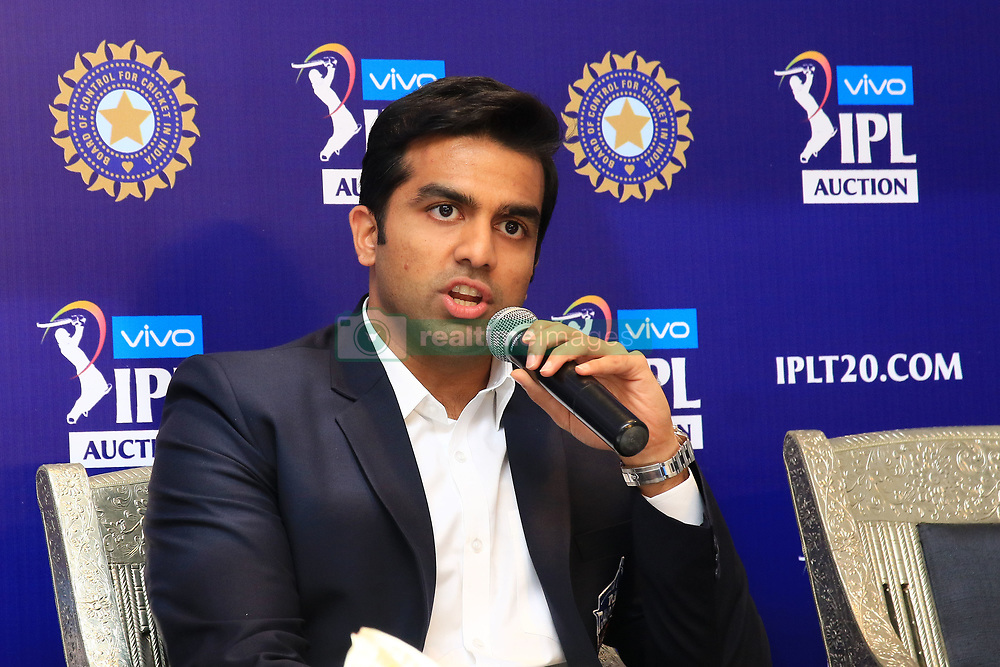 December 18, 2018 - Jaipur, Rajasthan, India - Delhi Capitals owner Parth Jindal  speak to the media at a press conference for the Indian Premier League 2019 auction in Jaipur on December 18, 2018, as teams prepare their player rosters ahead of the upcoming Twenty20 cricket tournament next year. The 2019 edition of the IPL -- one of the world's most-watched sporting events attracting the world's top stars -- is set to take place in April and May next year.(Photo By Vishal Bhatnagar/NurPhoto) (Credit Image: © Vishal Bhatnagar/NurPhoto via ZUMA Press)