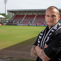 Dunfermline Athletic Kallum Higginbotham contract extension 17 May 2017<br />DAFC announce that Kallum Higginbotham has signed a 1 year contract extension until May 2018<br />CRAIG BROWN | sportPix.org.uk