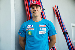 Zan Kranjec at departure of Slovenian Men Ski Team to training camp in Argentina and Chile on August 21, 2014 in SZS, Ljubljana, Slovenia. Photo by Vid Ponikvar / Sportida.com
