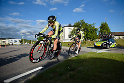 Hannah Solovey (Parkhotel Valkenburg) approaches 500 metres to go at the 42,5 km team time trial of the UCI Women's World Tour's 2016 Crescent Vårgårda Team Time Trial on August 19, 2016 in Vårgårda, Sweden. (Photo by Sean Robinson/Velofocus)