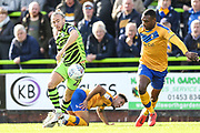 Forest Green Rovers Joseph Mills(23) controls the ball during the EFL Sky Bet League 2 match between Forest Green Rovers and Mansfield Town at the New Lawn, Forest Green, United Kingdom on 19 October 2019.