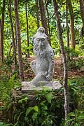 Monkey statue at the Sacred Monkey Forest Sanctuary, Ubud, Bali, Indonesia