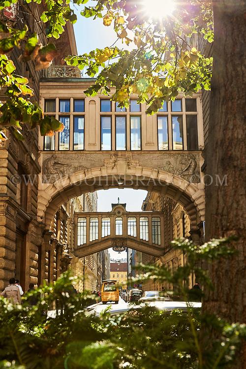 Prague, Czech Republic, Europe, Architecture, walkway, skywalk, walkway, elevated