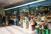 Fresh fruit and vegetables on market stalls, Ceuta, Spanish territory in north Africa, Spain