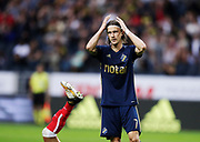 SOLNA, SWEDEN - JULY 27: Kristoffer Olsson of AIK dejected during the UEFA Europa League Qualifying match between AIK and SC Braga at Friends arena on July 27, 2017 in Solna, Sweden. Photo by Nils Petter Nilsson/Ombrello