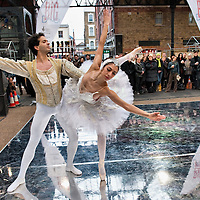LONDON, ENGLAND - JANUARY 20:  Classical  Dancers Tamara Rojo and Arionel Vargas perform at The Big Dance 2010 Launch  at the Old Spitafields Market on January 20, 2010 in London, England. 10,000 people expected to take part in The Big Dance which will take place between July 3-11.  (Photo by Marco Secchi/Getty Images)
