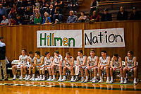 The Placer Hillman sit on the bench before the game as the Placer Hillman host the Liberty Ranch Hawks Varsity basketball team in the DIV NorCal boys quarterfinal, Saturday Mar 10, 2018.  <br /> photo by Brian Baer