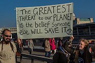 17 Nov 2018 - Climate protesters demonstrate with block five London bridges in 'Extinction Rebellion