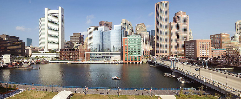 Boston, Downtown, Panorama, Waterfront, Boston Harbor