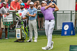 May 4, 2019 - Charlotte, NC, U.S. - CHARLOTTE, NC - MAY 04: Sergio Garcia tees off on the 1st hole during the third round of the Wells Fargo Championship at Quail Hollow on May 4, 2019 in Charlotte, NC. (Photo by William Howard/Icon Sportswire) (Credit Image: © William Howard/Icon SMI via ZUMA Press)