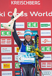 25.01.2014, Kreischberg, St. Georgen, AUT, Ski Cross Weltcup, Podium, im Bild Ophelie David (FRA, 1. Platz) // 1st place Ophelie David of France during the Winner award Ceremony of FIS Ski Cross World Cup at the Kreischberg in St. Georgen, Austria on 2014/01/25. EXPA Pictures © 2014, PhotoCredit: EXPA/ Johann Groder