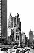 architectural view of manhatten streets
