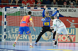 PEREZ DE VARGAS Gonzalo of Spain during handball match between National teams of Spain and Czech Republic on Day 1 in Preliminary Round of Men's EHF EURO 2018, on Januar 13, 2018 in Skolsko Sportska Dvorana, Varazdin, Croatia. Photo by Mario Horvat / Sportida