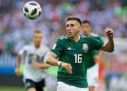 MOSCOW, RUSSIA - Sunday, June 17, 2018: Mexico's Hector Herrera during the FIFA World Cup Russia 2018 Group F match between Germany and Mexico at the Luzhniki Stadium. (Pic by David Rawcliffe/Propaganda)