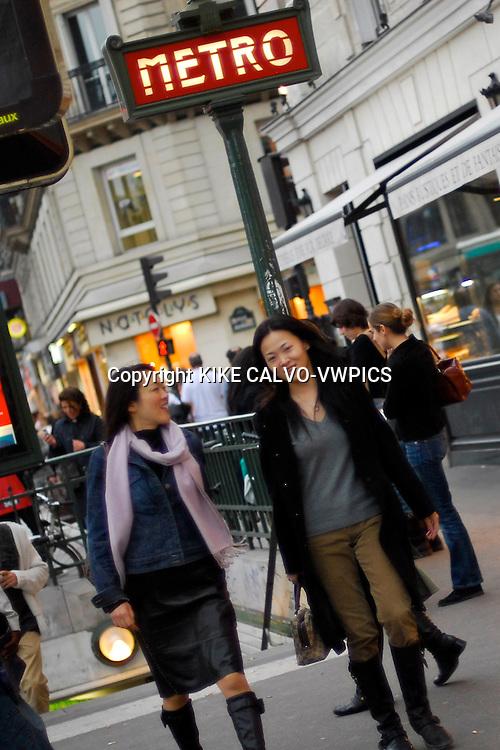 Paris. France., Le Metro or subway entrace