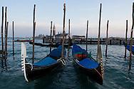 Venice 18/02/07- Gondolas & San Giorgio Maggiore