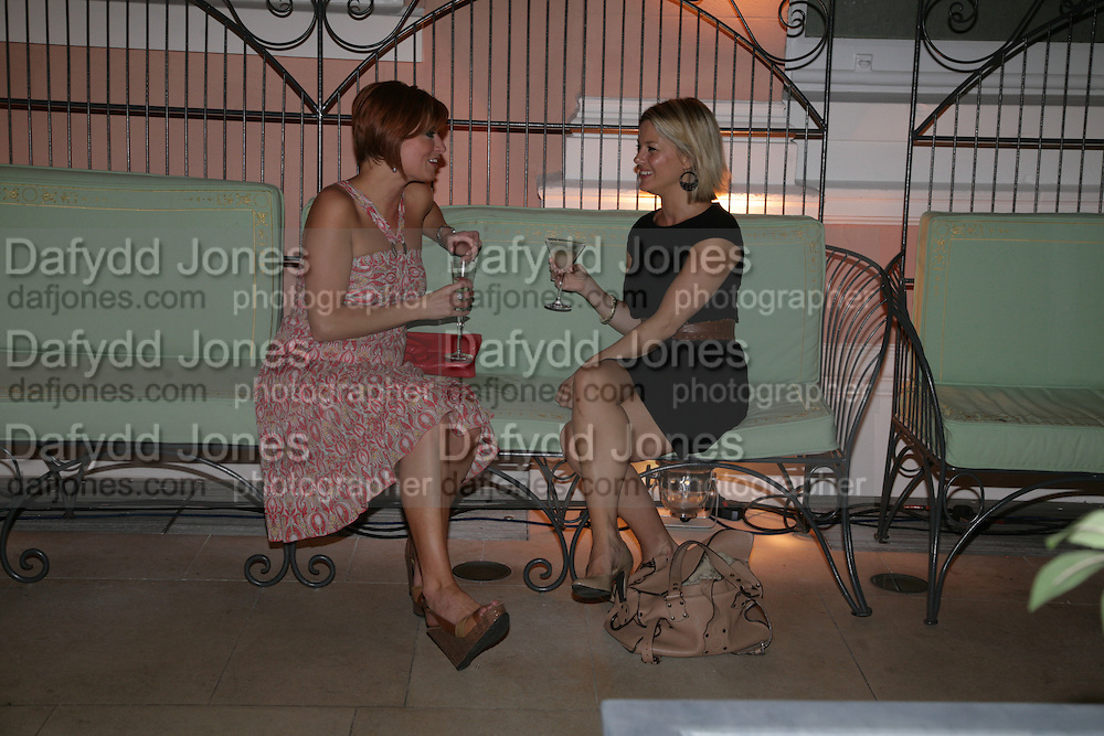Anahita Resort launch party. Wallace Collection. London. 12 September 2007. ( Photo by Dafydd Jones) Caroline Feraday and Georgina Bouzova -DO NOT ARCHIVE-© Copyright Photograph by Dafydd Jones. 248 Clapham Rd. London SW9 0PZ. Tel 0207 820 0771. www.dafjones.com.