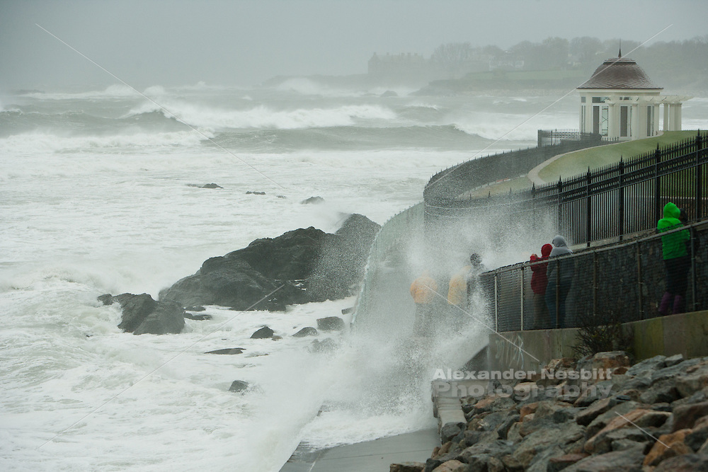Newport, RI - Cliff walk in super storm Sandy